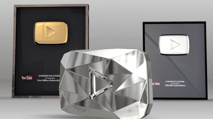 Deretan Play Button Dari Youtube