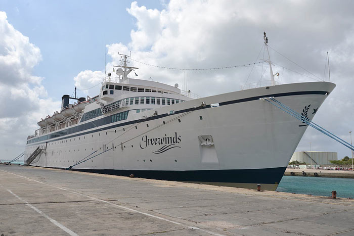 Penumpang Kapal pesiar di Karibia Saint Lucia dalam Masa karantina setelah infeksi campak